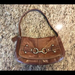 Coach Ergo Leather Belted Flap Hobo Bag